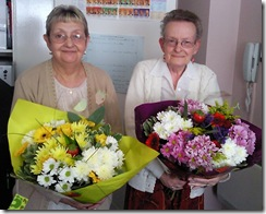Phyllis and Christine thank you flowers