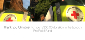 Grenfell Tower fund donation